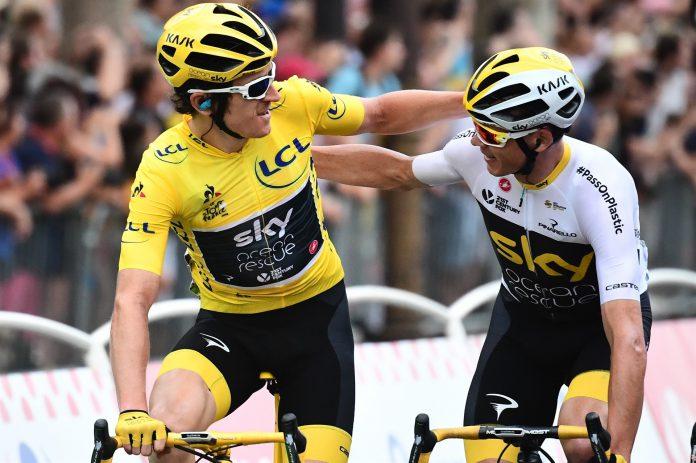 Geraint Thomas (izq) y Chris Froome, durante el pasado Tour de Francia.
