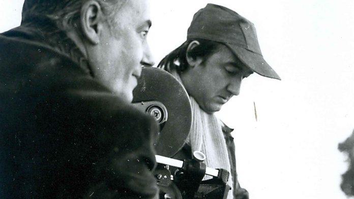"""José María HEREDERO y Miguel VELASCO rodando """"Alfareria Popular"""" en 1984."""