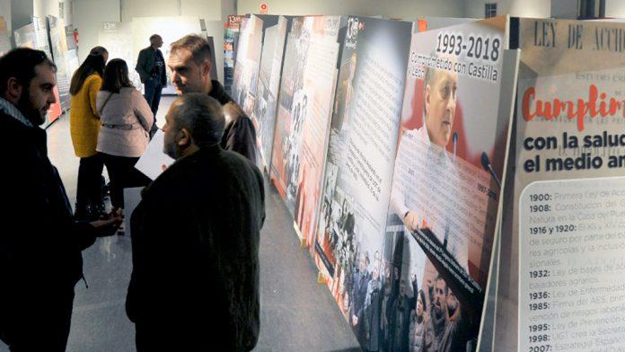 Los paneles de la exposición del 130 aniversario de la UGT en la Cárcel_Segovia Centro de Creación.