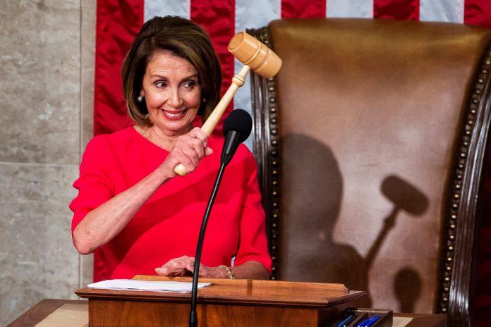 La nueva presidenta de la Cámara de Representantes de Estados Unidos, Nancy Pelosi.