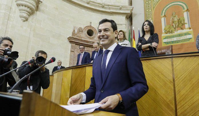El candidato del PP a presidir la Junta, Juanma Moreno.