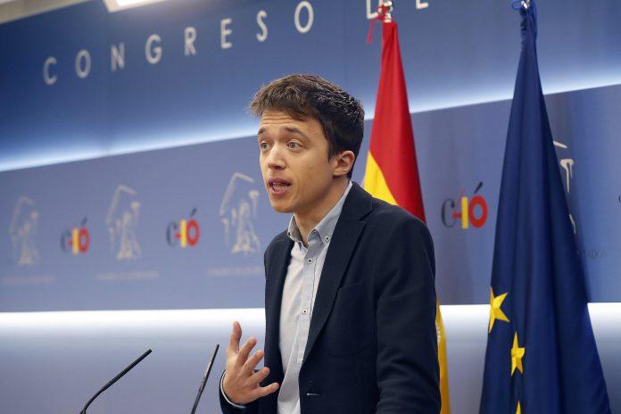 El exdiputado Íñigo Errejón durante la pasada rueda de prensa que ofreció en el Congreso de los Diputados.