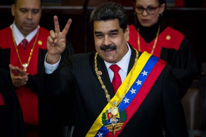 Nicolás Maduro, tras jurar su segundo mandato como presidente de Venezuela.
