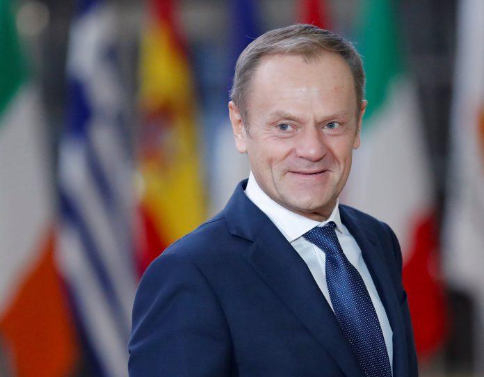 El presidente del Consejo Europeo, Donald Tusk, a su llegada a una reunión en Bruselas.