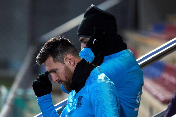 Leo Messi y Luis Suárez, las principales bazas del Barça para remontar al Sevilla la eliminatoria de cuartos de la Copa, en el entrenamiento de ayer.