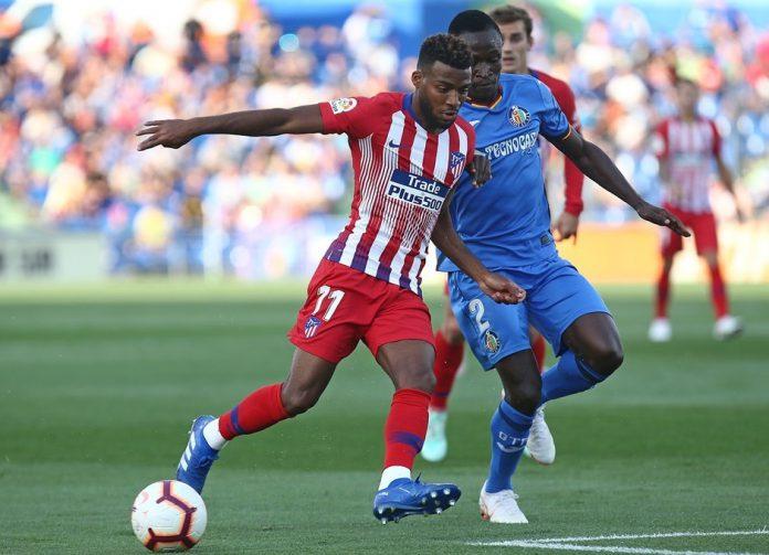 Thomas Lemar, protagonista en la victoria del Atlético en el Coliseum Alfonso Pérez, volverá a ser titular esta tarde.