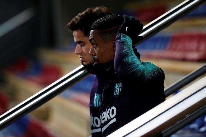 Coutinho y Malcom, dos de las alternativas que maneja Valverde para medirse al Levante, saltan al entrenamiento.