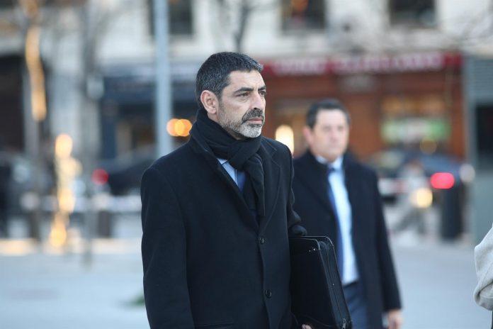 El exjefe de los Mossos d'Esquadra, Josep Lluís Trapero, a su llegada a la Audiencia Nacional.