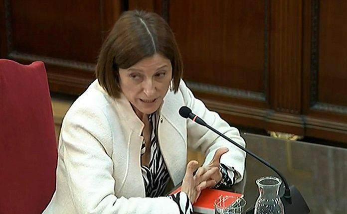 La expresidenta del Parlamento catalán, Carme Forcadell.