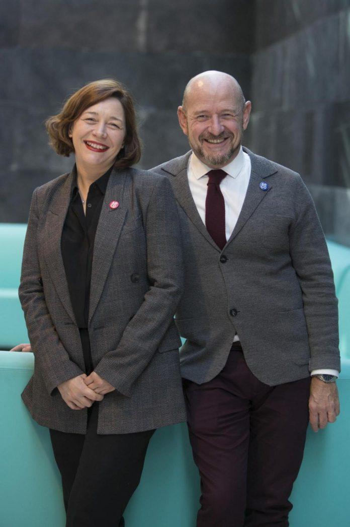 Los directores de ARCOmadrid, Maribel López y Carlos Urroz.