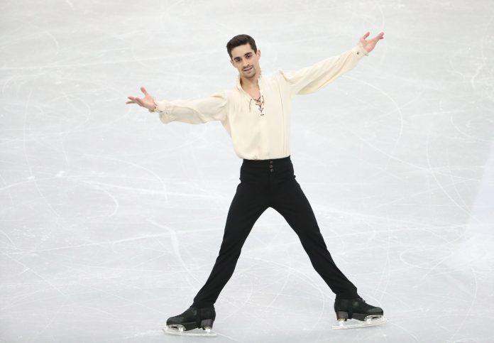 Javier Fernández, durante el programa libre del pasado campeonato de Europa que culminó con un nuevo oro