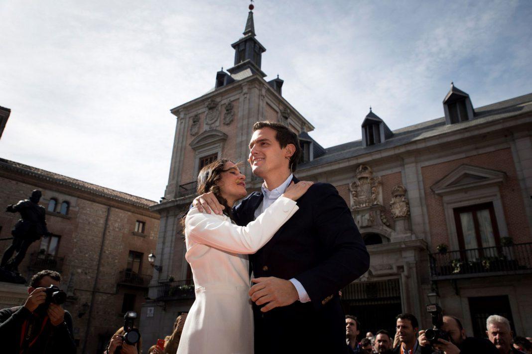Inés Arrimadas junto a Albert Rivera en el acto celebrado en Madrid.