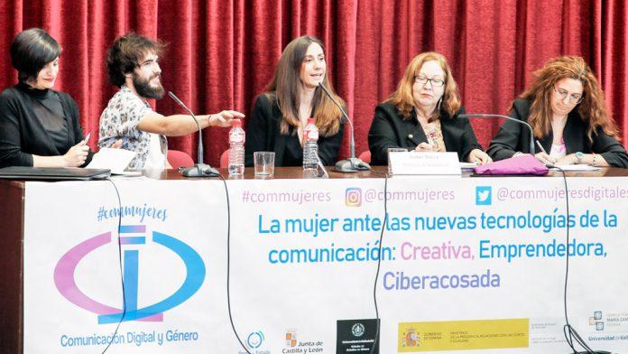 De izquierda a derecha: Eva Navarro, AgusScap, Isabel Bolea, María Ángeles Sallé y Gema Martín. / alberto morala