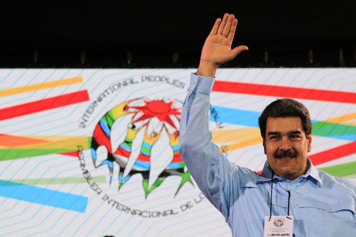 Maduro, en un acto de la Asamblea Internacional de los Pueblos en Caracas.