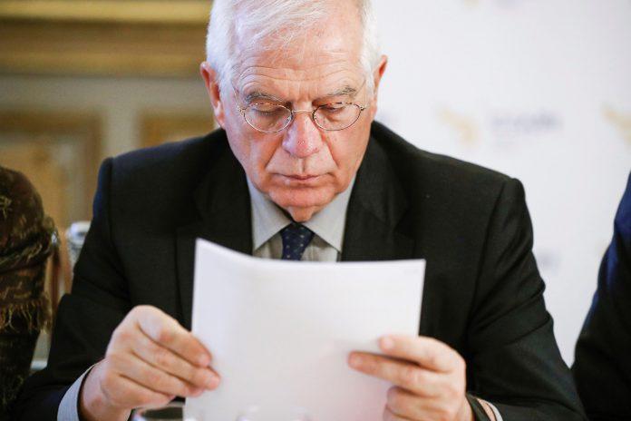 El ministro de Asuntos Exteriores, Josep Borrell, durante un acto en la Casa de América de Madrid.
