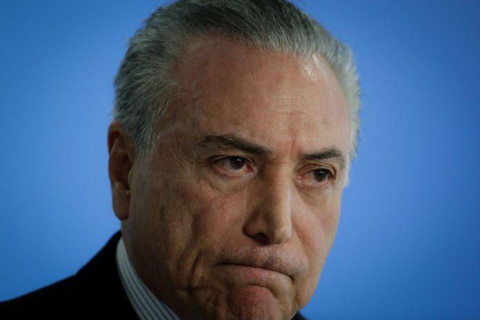 Imagen de archivo del expresidente brasileño Michel Temer en el Palacio del Planalto en Brasilia.