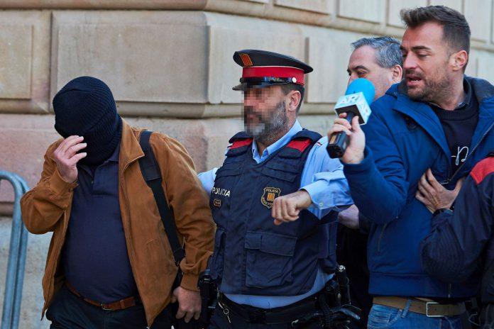 Llegada del acusado Joaquín Benitez al juzgado de Barcelona.