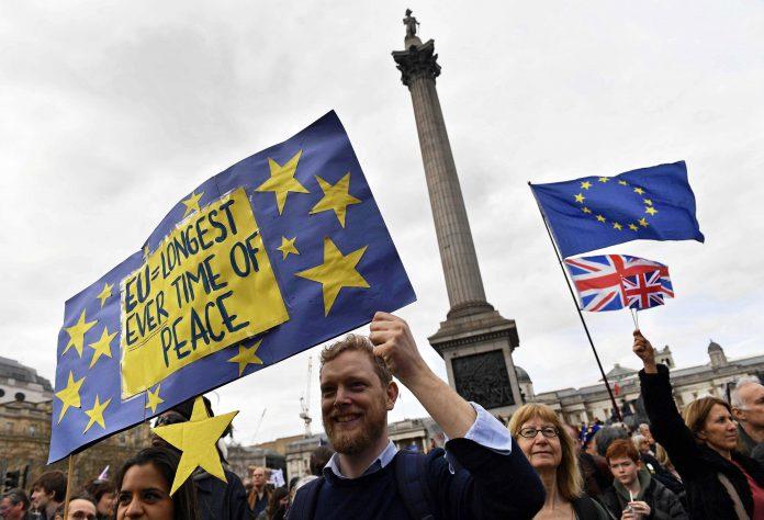 La marcha recorrió las principales calles del país como Picadilly Circus, la plaza de Trafalgar.