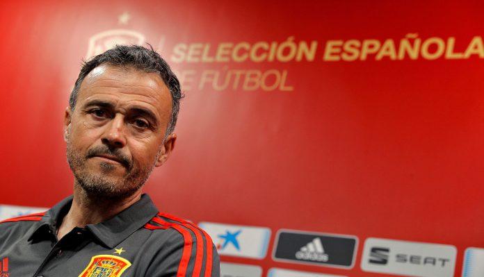 El seleccionador español, Luis Enrique Martínez, en rueda de prensa.