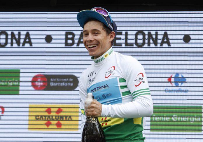 Miguel Ángel López, en el podio.