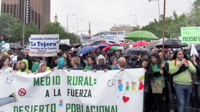 El Nordeste segoviano estuvo presente en la manifestación de Madrid. / el adelantado
