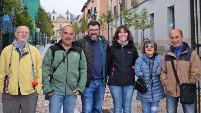 Integrantes de la nueva candidatura de Podemos-Equo en el Real Sitio. / el adelantado