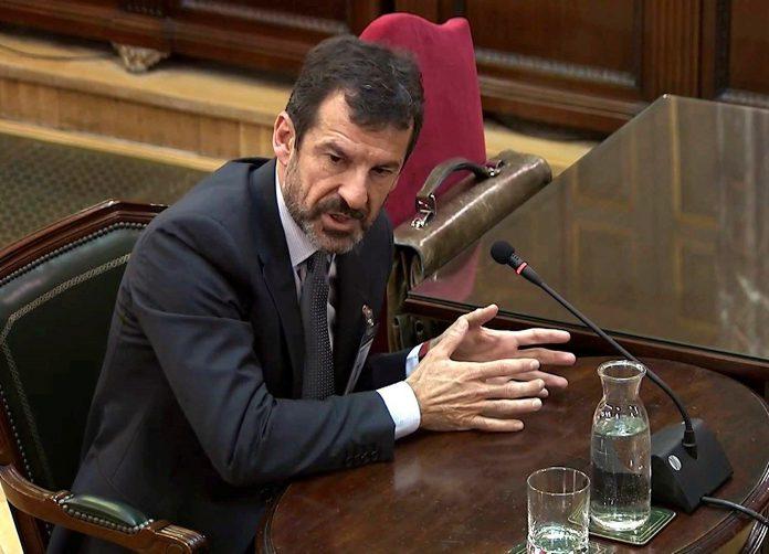 El comisario de los Mossos d'Esquadra Ferran López, durante su comparecencia.