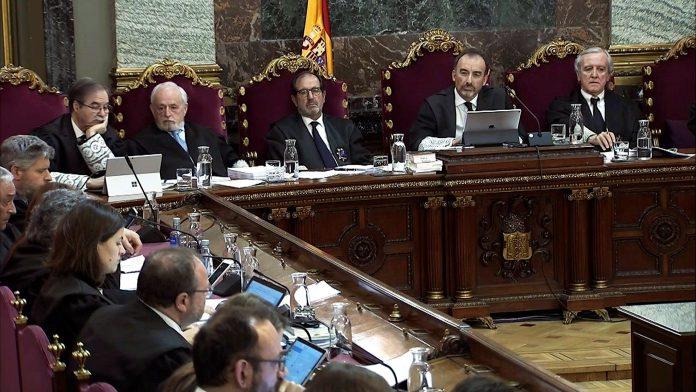 El juez Manuel Marchena durante una de las sesiones del juicio.