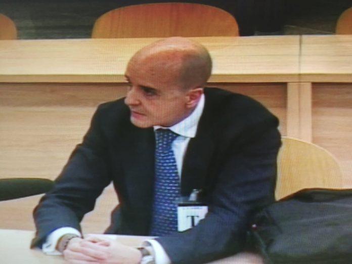 José Antonio Delgado, inspector del Banco de España, durante su declaración en el juicio de Bankia.