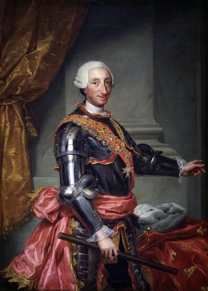 El retrato de Carlos III, de Antón Rafael Mengs es una de las obras a contemplar en la sala.