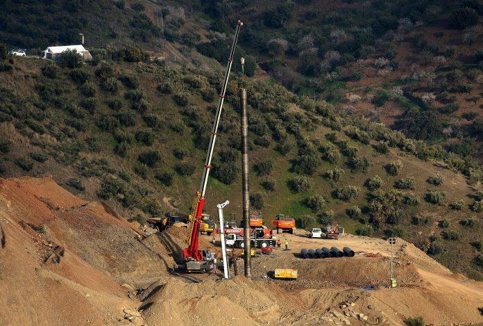 Imagen de archivo de las labores de rescate del pequeño Julen en Totalán.