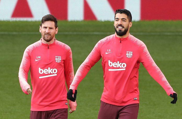 Leo Messi (izq) y Luis Suárez llegan al partido tras marcar en la victoria del Barça ante el Atlético de Madrid.