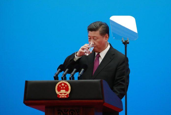Xi Jinping durante una conferencia de prensa al término de la reunión.
