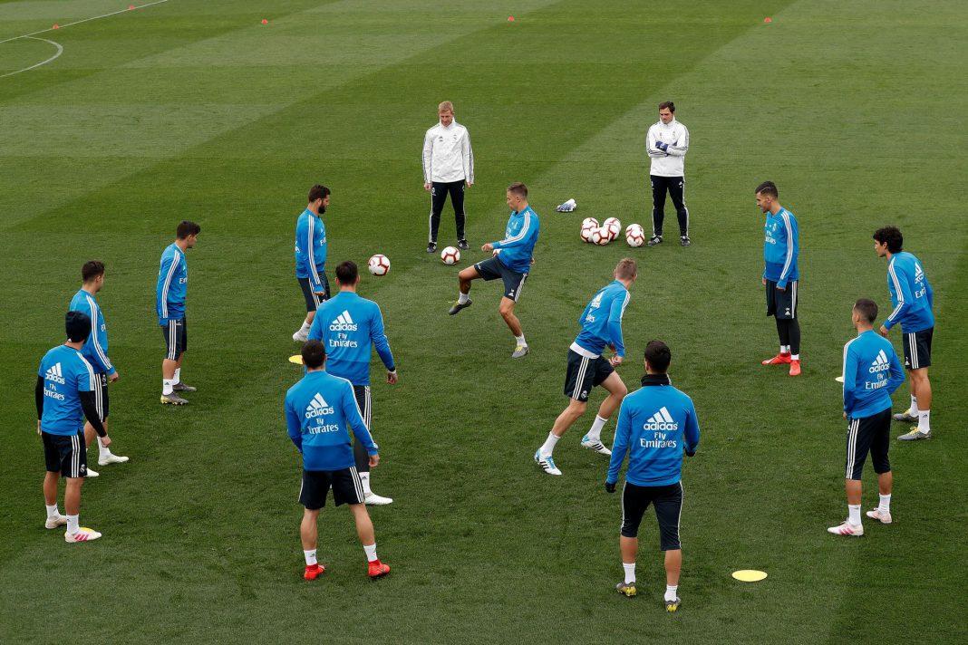 El conjunto blanco se entrena en Valdebebas para el partido contra el Athletic de Bilbao en el Santiago Bernabéu.