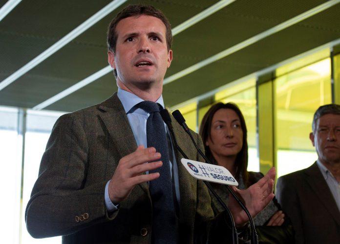 El presidente del PP y candidato a la Moncloa, Pablo Casado.
