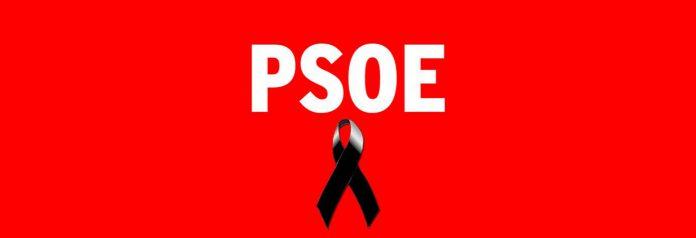 La web del PSOE, con un crespón negro junto a la foto del expolítico.