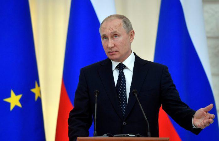 El presidente ruso, Vladímir Putin atiende a los medios de comunicación en la ciudad de Sochi.