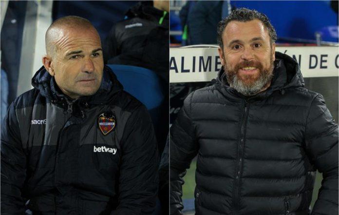 Paco López (izq) y Sergio González, entrenadores de Levante y Real Valladolid respectivamente.