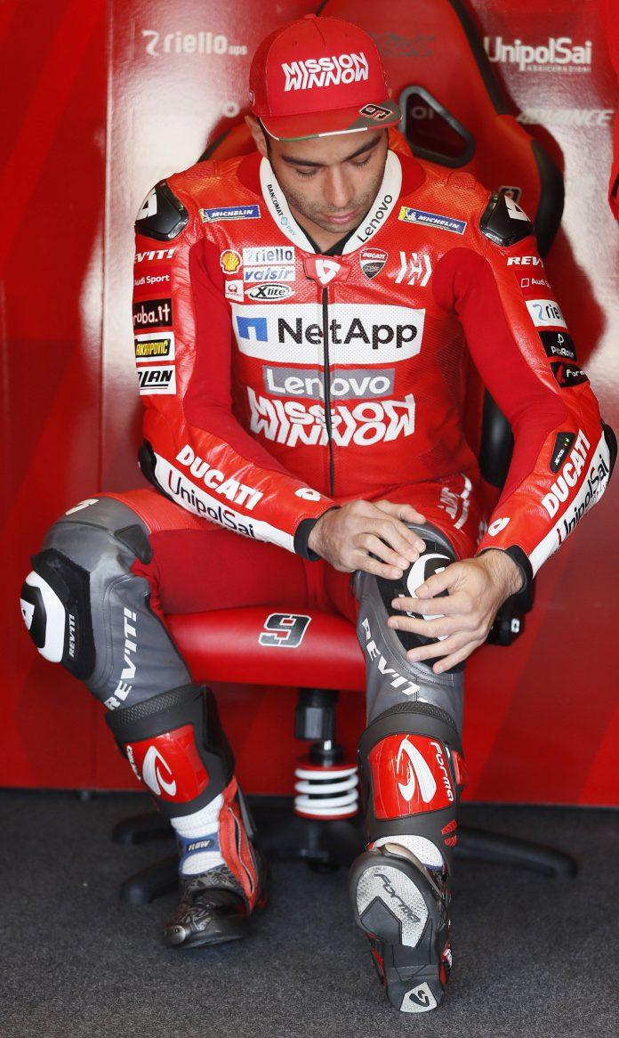 El piloto italiano de Moto GP del equipo Ducati Danilo Petrucci.