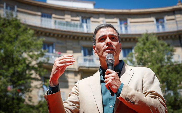 El presidente del Gobierno en funciones, Pedro Sánchez, en San Sebastián.