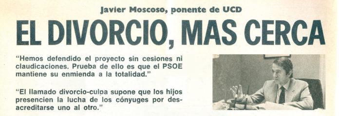 La prensa de la época reflejaba las polémicas sobre el divorcio. / REVISTA BLANCO Y NEGRO, NOVIEMBRE DE 1980.