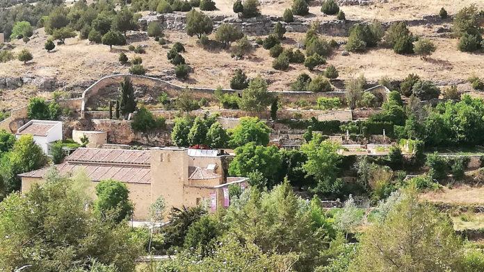 Vista Panorámica desde el sur. Jardines y Casa del Águila.