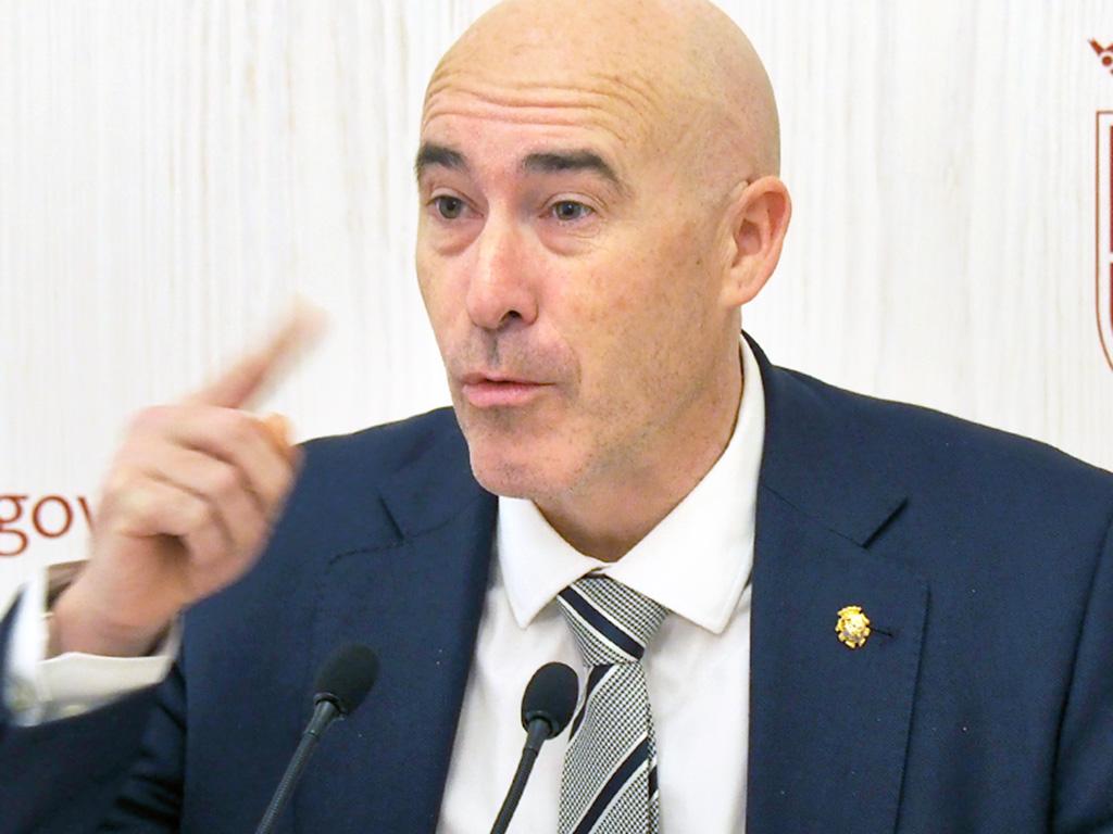 Óscar Moral, durante la rueda de prensa.