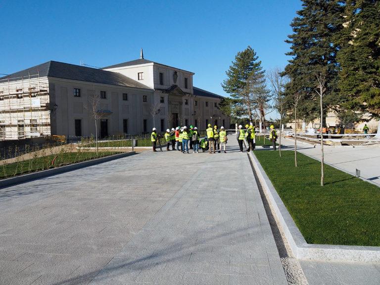 Obras en la plaza Reina Victoria Eugenia