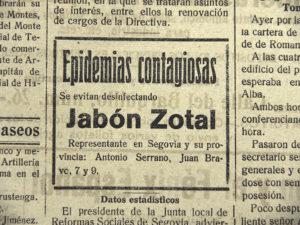 Así pasó Segovia la gripe de 1918