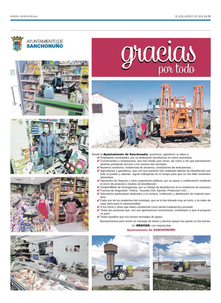 Ayuntamiento de Sanchonuño, gracias por todo