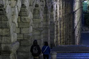 Los monumentos de Segovia se recuperan del 'apagón'