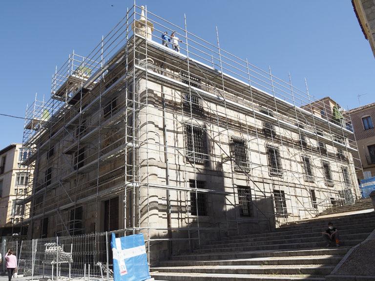El Consistorio inicia los trabajos de restauración y mejora exterior de la Casa de la Lectura
