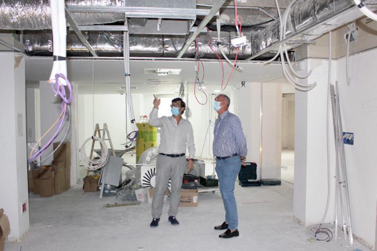 Las obras de ampliación en el Hospital acabarán en octubre