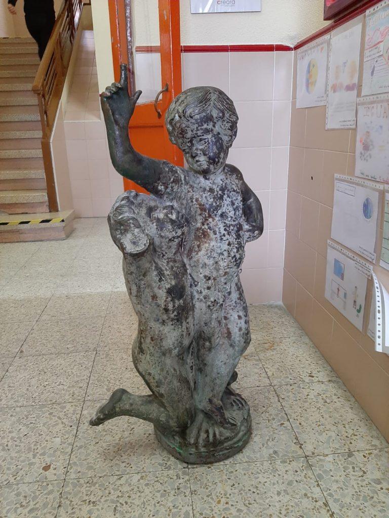La restauración de una escultura simbólica de Cuéllar genera controversia